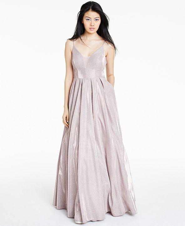 B Darlin Juniors' Sparkle Plunge Ball Gown