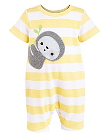 Baby Boys Striped Sloth Cotton Sunsuit, Created For Macy's