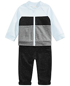 Baby Boys 2-Pc. Cotton Colorblocked Jacket & Jogger Pants Set, Created For Macy's
