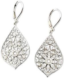 Diamond Openwork Flower Drop Earrings (1/2 ct. t.w.) in 14k White Gold
