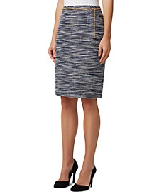 Chain-Belt Pencil Skirt