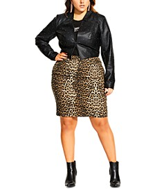 Trendy Plus Size Temptation Studded Faux-Leather Jacket