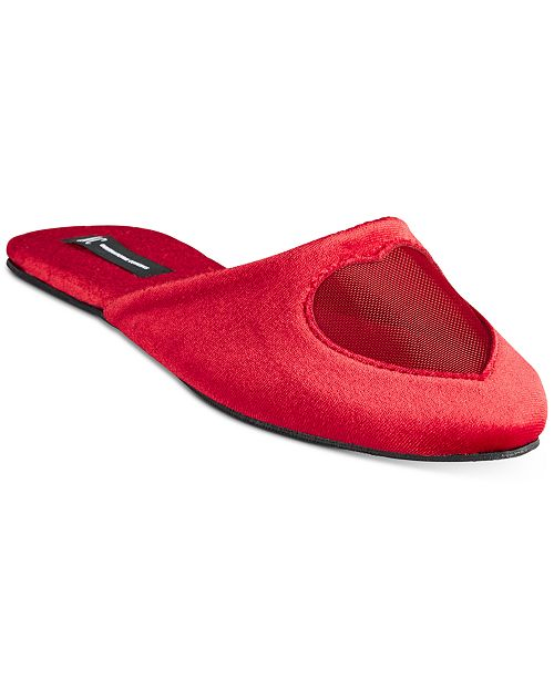INC International Concepts INC Women's Mesh-Heart Slippers, Created For Macy's