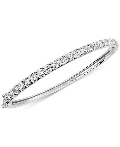 Macy's Certified Diamond Bangle Bracelet (4 ct. t.w.) in 14k White Gold