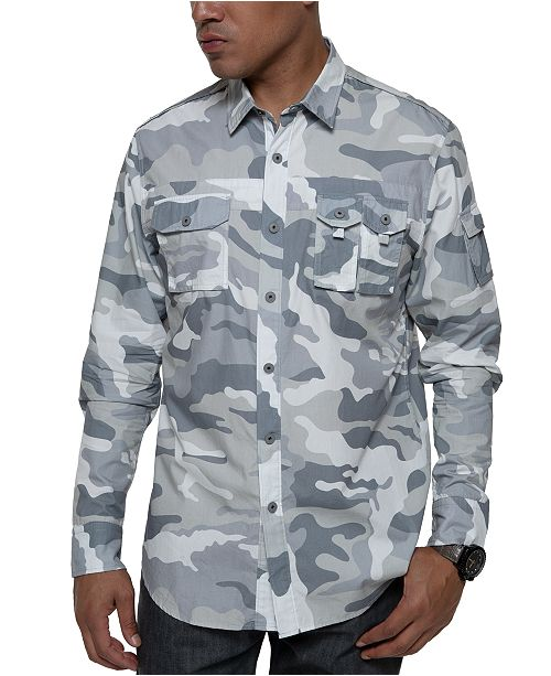 Sean John Men's Camo Dual Pocket Shirt
