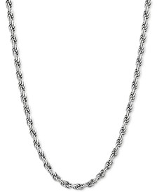 "Rope Link 18"" Chain Necklace in Sterling Silver"