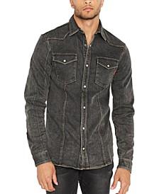 Men's Sisavage Slim-Fit Denim Shirt