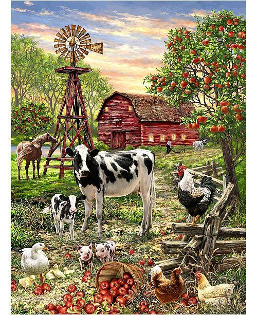 Springbok Puzzles Barnyard Animals 100 Piece Alzheimer and Dementia Jigsaw Puzzle