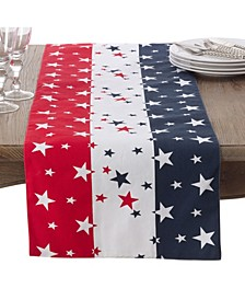 Red White Blue 4Th Of July Cotton Table Runner