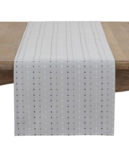 Saro Lifestyle Square Stitched Table Runner