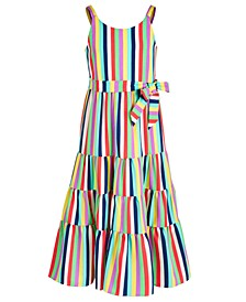 Big Girls Striped Maxi Dress
