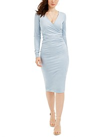 Ginette Surplice Fitted Dress