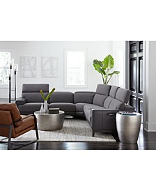 Madiana Fabric and Leather Sectional Collection