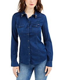 Lalima Embellished Denim Shirt