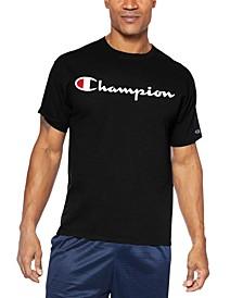 Men's Big & Tall Script-Logo T-Shirt