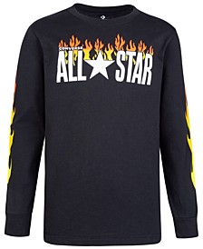 Big Boys All Star Flames Logo T-Shirt