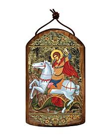 Saint George Wooden Greek Christian Orthodox Icon Ornament