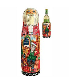 Russian Santa Workshop Wine Bottle Gift Box
