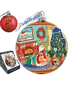 Limited Edition Oversized Christmas Eve Ball Glass Ornament
