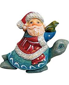 Santa On Turtle Ornament
