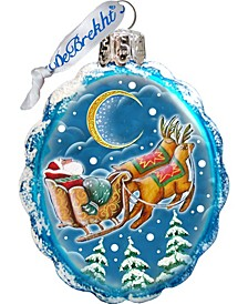 Up-Up and Away Glass Ornament