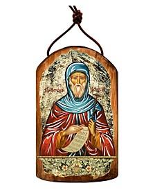 Saint Anthony Wooden Greek Christian Orthodox Icon Ornament