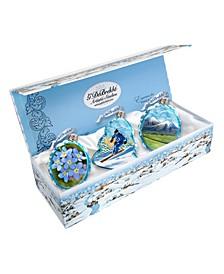 Arctic Glass Ornament - Set of 3
