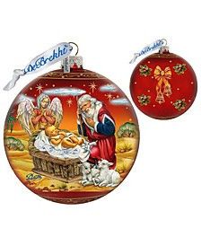 Limited Edition Oversized Adoration Ball In Red Glass Ornament