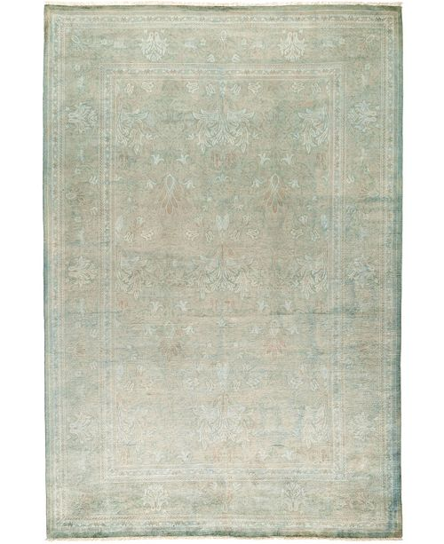 """Timeless Rug Designs CLOSEOUT! One of a Kind OOAK28 Green 6' x 8'10"""" Area Rug"""
