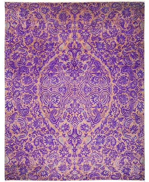 """Timeless Rug Designs One of a Kind OOAK30 Lilac 8'1"""" x 10'1"""" Area Rug"""