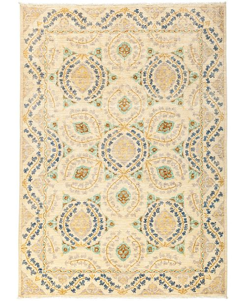 "Timeless Rug Designs CLOSEOUT! One of a Kind OOAK2707 Ivory 6'4"" x 8'8"" Area Rug"