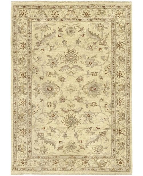 "Timeless Rug Designs CLOSEOUT! One of a Kind OOAK61 Ivory 4'9"" x 6'7"" Area Rug"