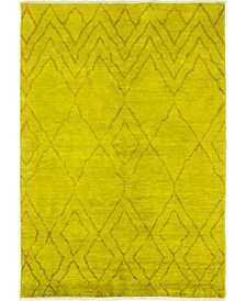 """CLOSEOUT! One of a Kind OOAK141 Yellow 6'4"""" x 9' Area Rug"""