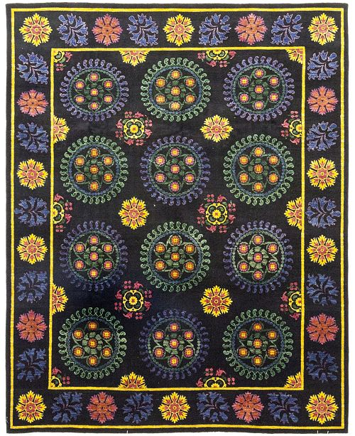 """Timeless Rug Designs CLOSEOUT! One of a Kind OOAK171 Yellow 9'1"""" x 11'6"""" Area Rug"""