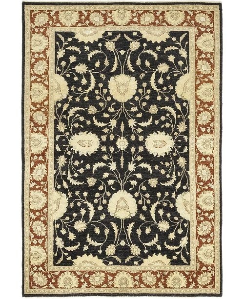 """Timeless Rug Designs CLOSEOUT! One of a Kind OOAK181 Onyx 6'3"""" x 9'4"""" Area Rug"""