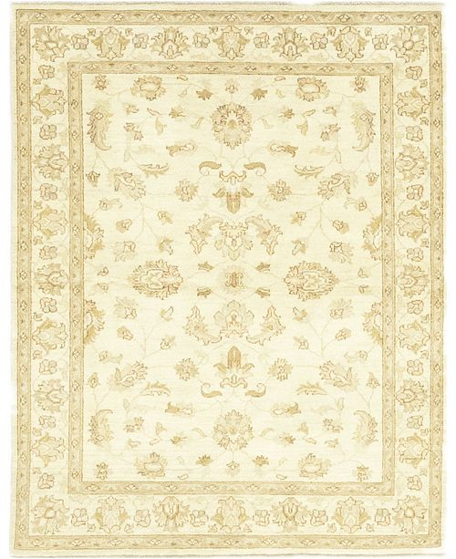 "Timeless Rug Designs One of a Kind OOAK191 Cream 4'10"" x 6'8"" Area Rug"