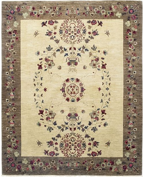 """Timeless Rug Designs CLOSEOUT! One of a Kind OOAK201 Mocha 8"""" x 9'9"""" Area Rug"""