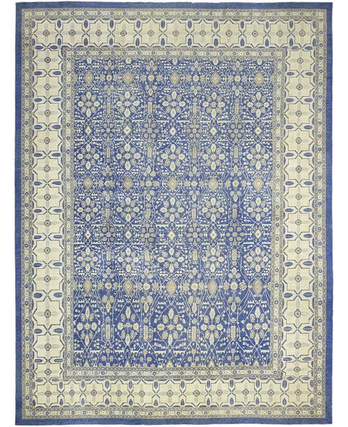 "Timeless Rug Designs CLOSEOUT! One of a Kind OOAK245 Sapphire 13'10"" x 18'7"" Area Rug"