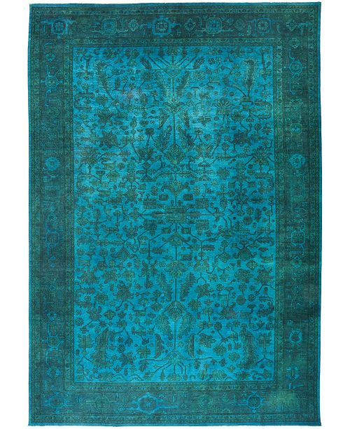 "Timeless Rug Designs CLOSEOUT! One of a Kind OOAK443 Teal 11'10"" x 17'6"" Area Rug"