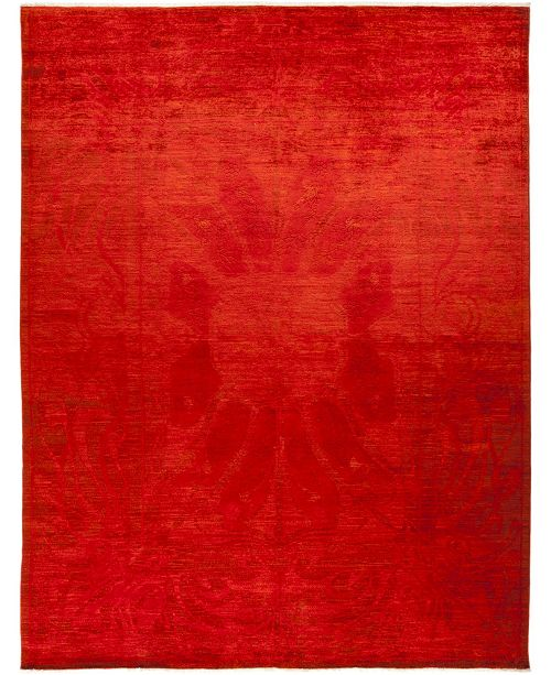 """Timeless Rug Designs CLOSEOUT! One of a Kind OOAK739 Red 8'10"""" x 11'7"""" Area Rug"""