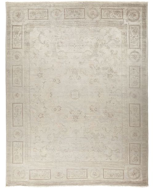 """Timeless Rug Designs CLOSEOUT! One of a Kind OOAK749 Silver 9' x 12'2"""" Area Rug"""