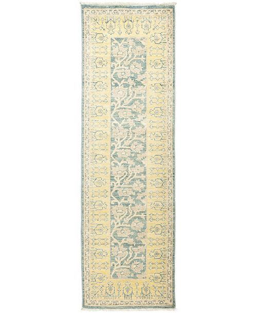 """Timeless Rug Designs CLOSEOUT! One of a Kind OOAK888 Flax 2'6"""" x 8'3"""" Runner Rug"""
