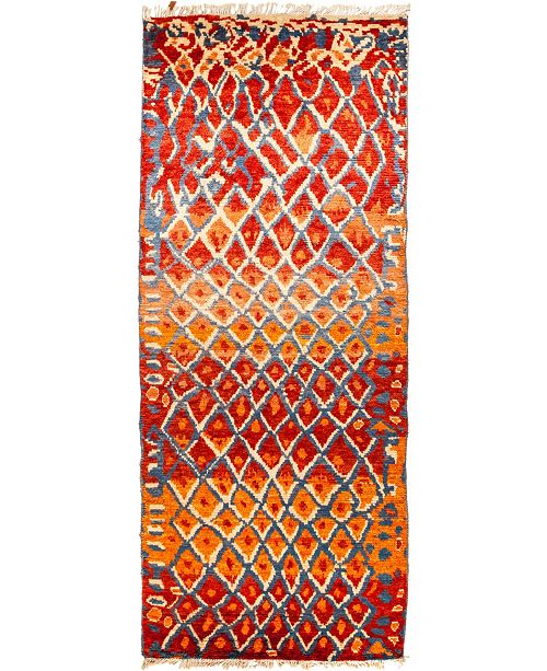 """Timeless Rug Designs CLOSEOUT! One of a Kind OOAK1428 Red 5'1"""" x 12'5"""" Runner Rug"""