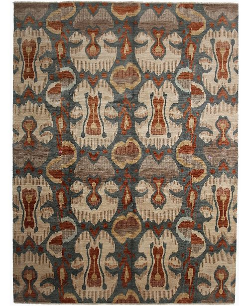 """Timeless Rug Designs CLOSEOUT! One of a Kind OOAK2659 Ocean 9'1"""" x 12'1"""" Area Rug"""