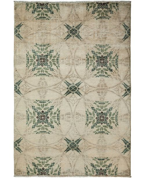 "Timeless Rug Designs CLOSEOUT! One of a Kind OOAK3636 Bone 4'1"" x 6' Area Rug"