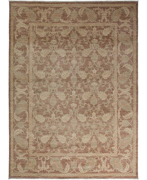 """Timeless Rug Designs CLOSEOUT! One of a Kind OOAK3459 Mocha 9' x 12'6"""" Area Rug"""