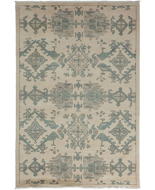 """Timeless Rug Designs CLOSEOUT! One of a Kind OOAK3514 Bone 5'2"""" x 8' Area Rug"""