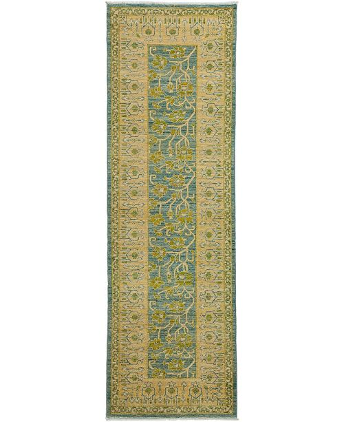 "Timeless Rug Designs CLOSEOUT! One of a Kind OOAK3365 Flax 3'3"" x 9'10"" Runner Rug"