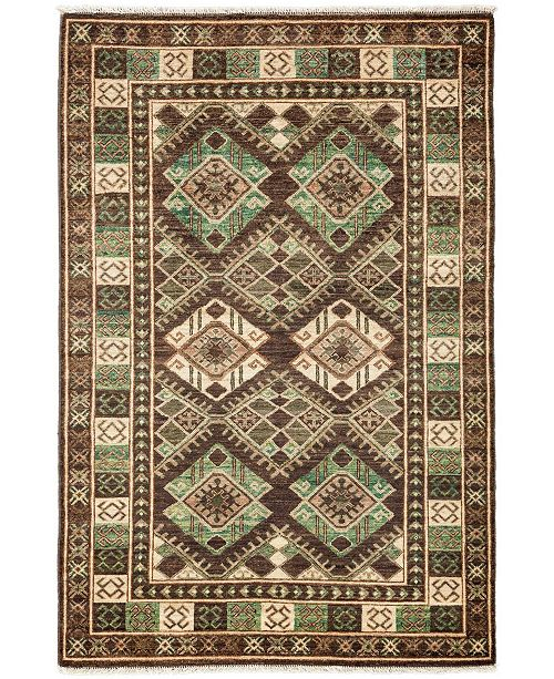 Timeless Rug Designs CLOSEOUT! One of a Kind OOAK3315 Brown 4' x 6' Area Rug