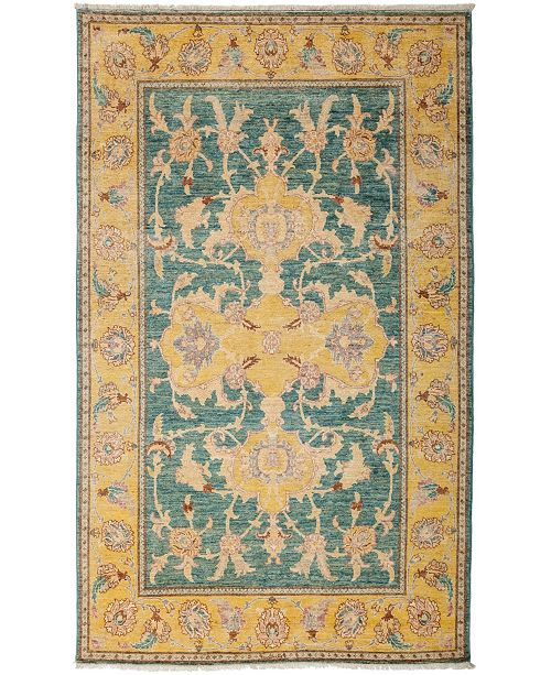 "Timeless Rug Designs CLOSEOUT! One of a Kind OOAK3139 Ocean 5'1"" x 8' Area Rug"